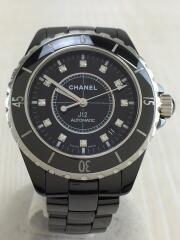 シャネル/J12/12Pダイヤ/J.H.87511/自動巻腕時計/アナログ/ブラック/中古// セラミック