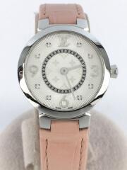 タンブールスリムPM/8Pダイヤ/Q12MG/TS1016/クォーツ腕時計/アナログ/ルイヴィトン
