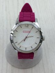 クォーツ腕時計/アナログ/ラバー/SLV