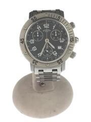 クォーツ腕時計/アナログ/ステンレス/BLK/SLV//クロノグラフデイト ダイバーズ   CL2.910