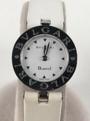 クォーツ腕時計/アナログ/レザー/WHT/WHT/Bzero1/BZ22S
