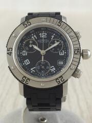 CLIPPER/クォーツ腕時計/アナログ/クロノグラフ/BLK/BLK/CL2.315/エルメス/クリッパー