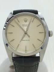 ROLEX/ロレックス/オイスター手巻腕時計/アナログ/レザー/GRY/6424