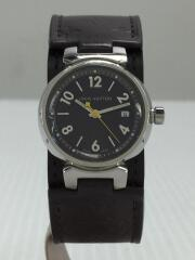 クォーツ腕時計/アナログ/レザー/ブラウン/Q1211/タンブール