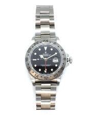 エクスプローラー2/自動巻腕時計/アナログ/ステンレス/BLK/SLV/16570/セカスト