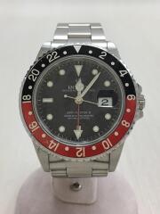 GMTマスターII/SS/40mm/赤黒ベゼル/アナログ/BLK/SLV/U番/1997年/自動巻腕時計  GMT-MASTERⅡ