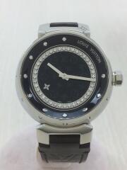 タンブールディスク アマラントディアモンMM/クォーツ腕時計/アナログ/エナメル/Q1319