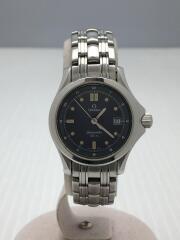 SEAMASTER 120m/クォーツ腕時計/アナログ/BLU/SLV/オメガ/シーマスター/6501