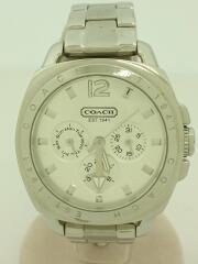 クォーツ腕時計/アナログ/ステンレス/9376738/CA433140444/コーチ