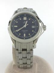 クォーツ腕時計/アナログ/--/NVY/SLV/ラグジュアリー/SEAMASTER/120M