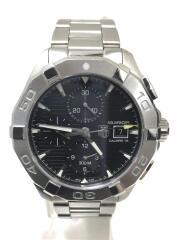 自動巻/アナログ/ステンレス/BLK/2020/02/OH済/クロノグラフ ダイバーズ AQUA RACER アクアレーサー calibre16 腕時計