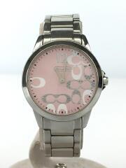 クォーツ腕時計/アナログ/ステンレス/PNK/SLV/CA13.7.14.0647