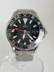 自動巻腕時計/アナログ/ステンレス/BLK/SLV/SEAMASTER GMT