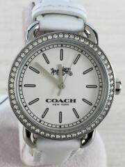 クォーツ腕時計/ラインストーンベゼル/CA.105.7.14.1141S/アナログ/レザー/ホワイト