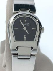 クォーツ腕時計/0218/アナログ/ステンレス/ブラック/シルバー