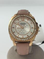 ミニシグネチャー/クォーツ腕時計/CA.64.7.34.0697S/アナログ/レザー/ピンク