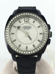 ボーイフレンド/クォーツ腕時計/アナログ/ラバー/SLV/BLK/CA.09.7.29.0502