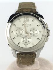 クォーツ腕時計/アナログ/キャンバス/SLV/BEG/CA.43.3.14.0444