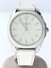 クォーツ腕時計/アナログ/ラバー/WHT/CA.77.7.14.0838