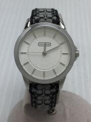 シグネチャーインデックス/1165/クォーツ腕時計/アナログ/キャンバス/SLV/BLK