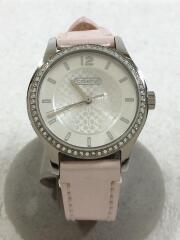 クォーツ腕時計/アナログ/レザー/SLV/PNK/CA.79.7.14.0804S/ピンク