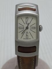 クォーツ腕時計/スクエア/アナログ/レザー/CRM/ベルトシミ