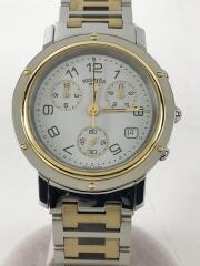 HERMES/エルメス/クォーツ腕時計/アナログ/ステンレス/WHT/SLV