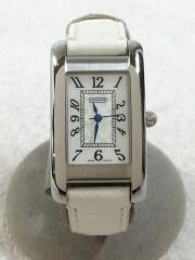 クォーツ腕時計/アナログ/レザー/WHT/WHT/8.556.189/