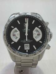 Grand CARRERA/CAV511A/自動巻腕時計/アナログ/ステンレス/BLK/SLV/クロノグラフ carrera calibre17 バックスケルトン