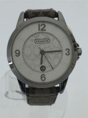 クォーツ腕時計/アナログ/レザー/SLV/マルチカラー