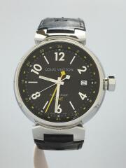 ルイヴィトン/タンブールGMT/Q1131/自動巻腕時計/アナログ/レザー/2020/09/OH済