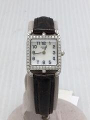 エルメス/ケープコッド/cc1.192/クォーツ腕時計/アナログ/ダイヤ/ベルト使用感有