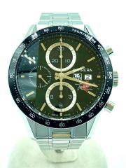 CV201Q/CARRERA/TOSCANA/クロノグラフ自動巻腕時計/アナログ/GRN/SLV
