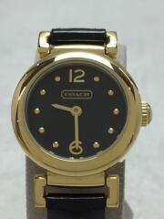 クォーツ腕時計/アナログ/エナメル/BLK/ゴールド/14501693/CA.72.7.34.0735