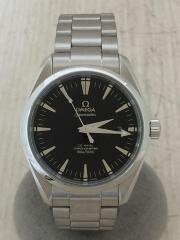 自動巻腕時計/2503.50/シーマスターアクアテラ/SS/アナログ/ステンレス/BLK/SLV/セカスト