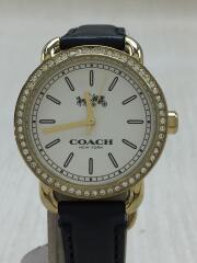 クォーツ腕時計/アナログ/レザー/シルバー/ブラック/CA.105.7.34.1140S