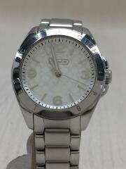 クォーツ腕時計/アナログ/ステンレス/ホワイト/シルバー/CA67.7.14.0689
