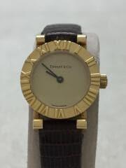 クォーツ腕時計/S0630/アトラス/アナログ/レザー/GLD/BRW/K18/社外ベルト/セカスト