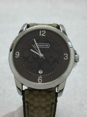 クォーツ腕時計/アナログ/レザー/BRW/BRW