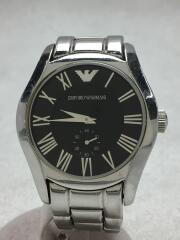 クォーツ腕時計/アナログ/ステンレス/AR-0680/ブラック/ロゴ/インポート/メンズ/アクセサリー