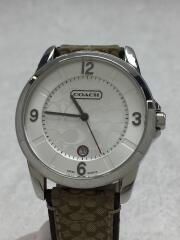 クォーツ腕時計/クラシックシグネチャー/アナログ/レザー/キャンバス/SLV/KHK/0291.1