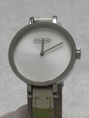 クォーツ腕時計/アナログ/レザー/ホワイト/ボーダー/マルチカラー/0278/ウォッチ