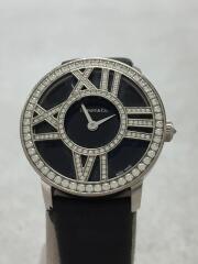 アトラス/カクテル/クォーツ腕時計/アナログ/レザー/BLK/BLK/中古/Z1900