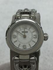 腕時計/アナログ/レザー/WHT/RED/CA.71.7.14.0731/2針/シグネチャー