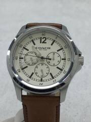 クォーツ腕時計/アナログ/レザー/CRM/BRW/CA94.2/14602058/クロノグラフ
