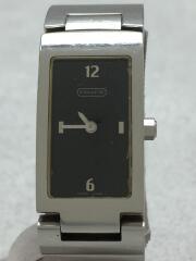スクエア/クォーツ腕時計/アナログ/ステンレス/ブラック/シルバー/長方形/W040/5.508.20