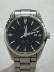 2517.80/シーマスターアクアテラ/クォーツ腕時計/アナログ/SS/シルバー/ネイビー文字盤