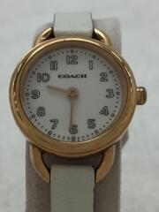 腕時計/アナログ/レザー/ホワイト/ホワイト/CA.84.7.34.0931/中古