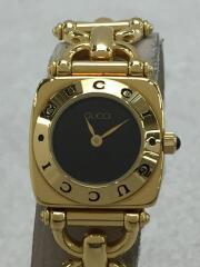クォーツ腕時計/アナログ/チタン/BLK/GLD