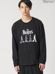 The BEATLES ABBEY ROADプリント長袖Tシャツ